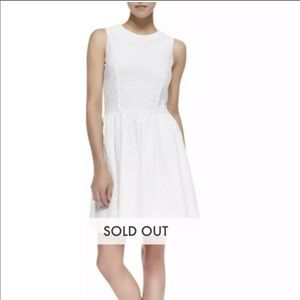 French Connection Sunflower Eyelet Dress in White